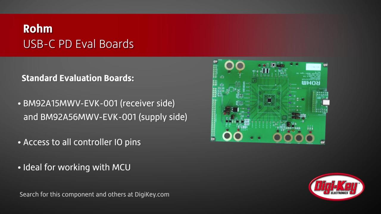 Rohm USB-C PD Evaluation Boards | Digi-Key Daily