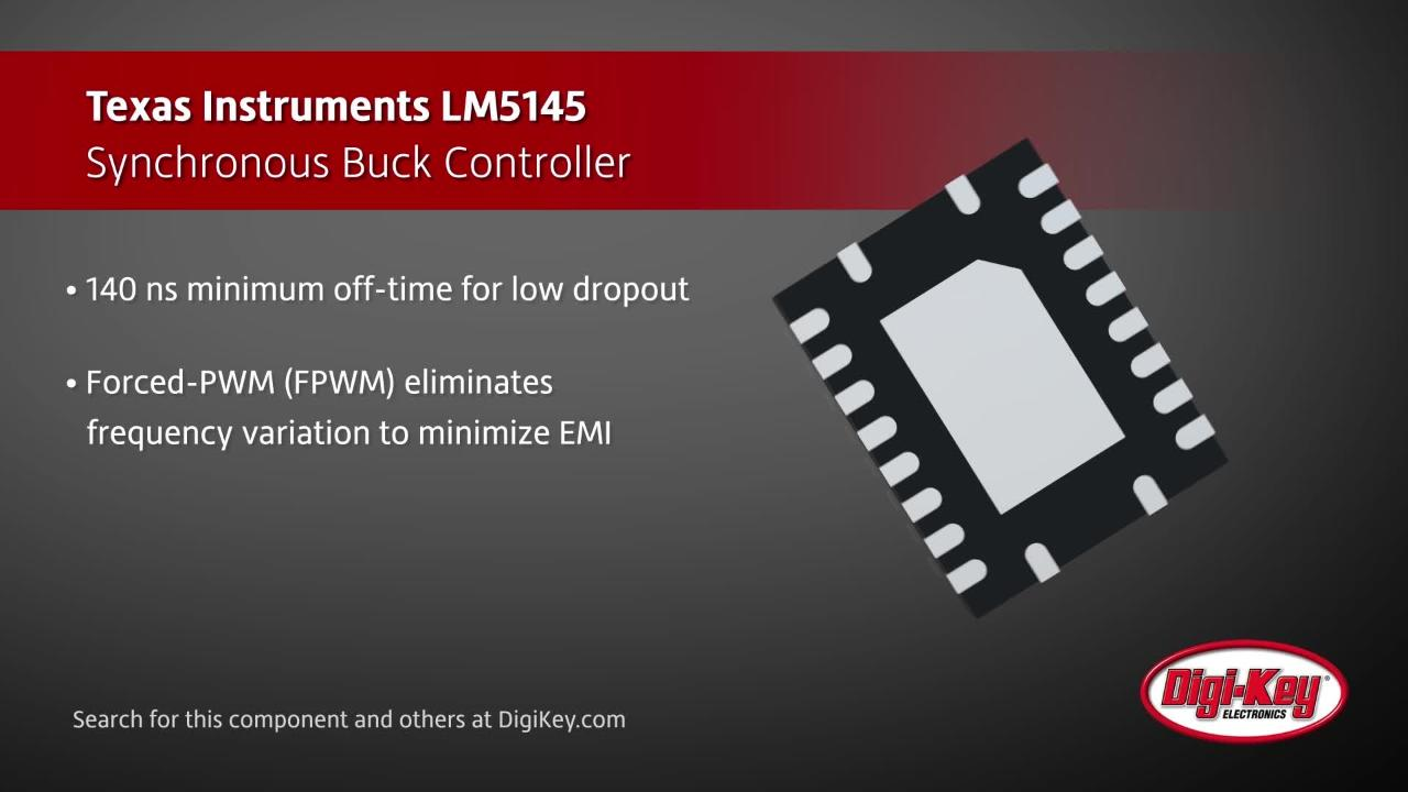 Texas Instruments LM5145 Buck Controller | Digi-Key Daily