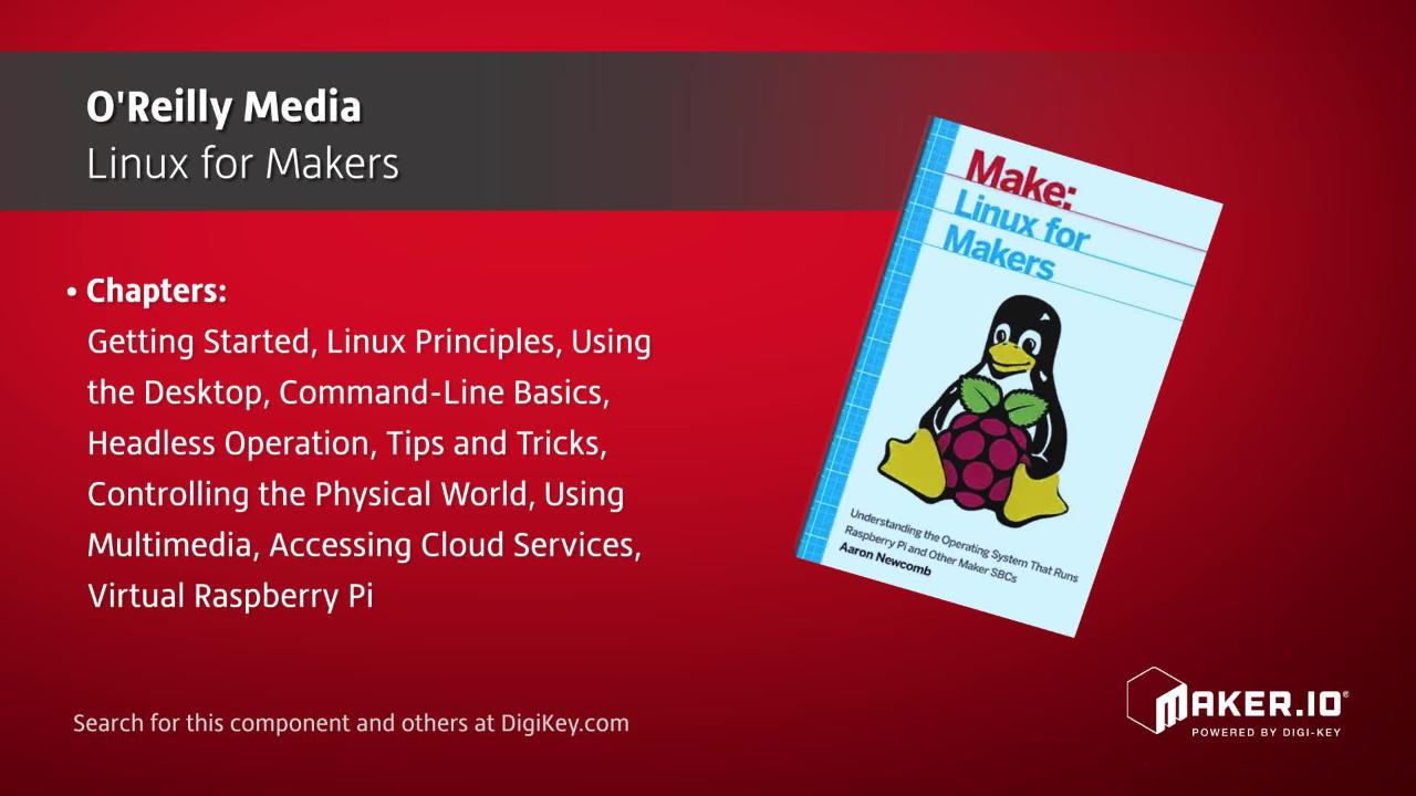 O'Reilly Media Linux for Makers | Maker Minute