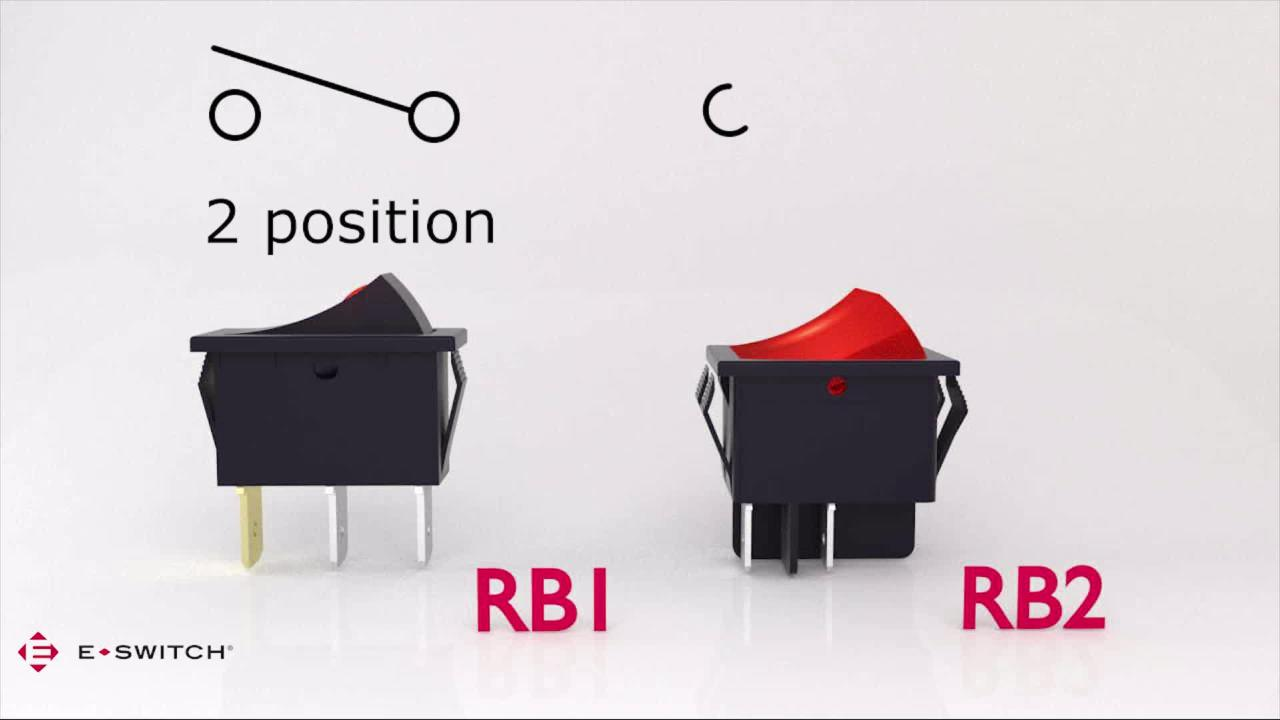E-Switch presents E-Bits: RB1 and RB2 Rocker Switches