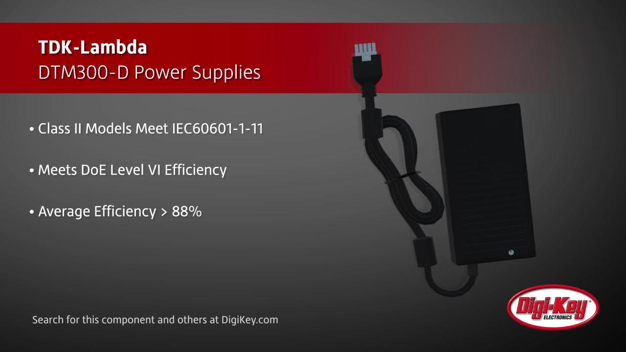 TDK-Lambda DTM300-D Power Supplies | Digi-Key Daily