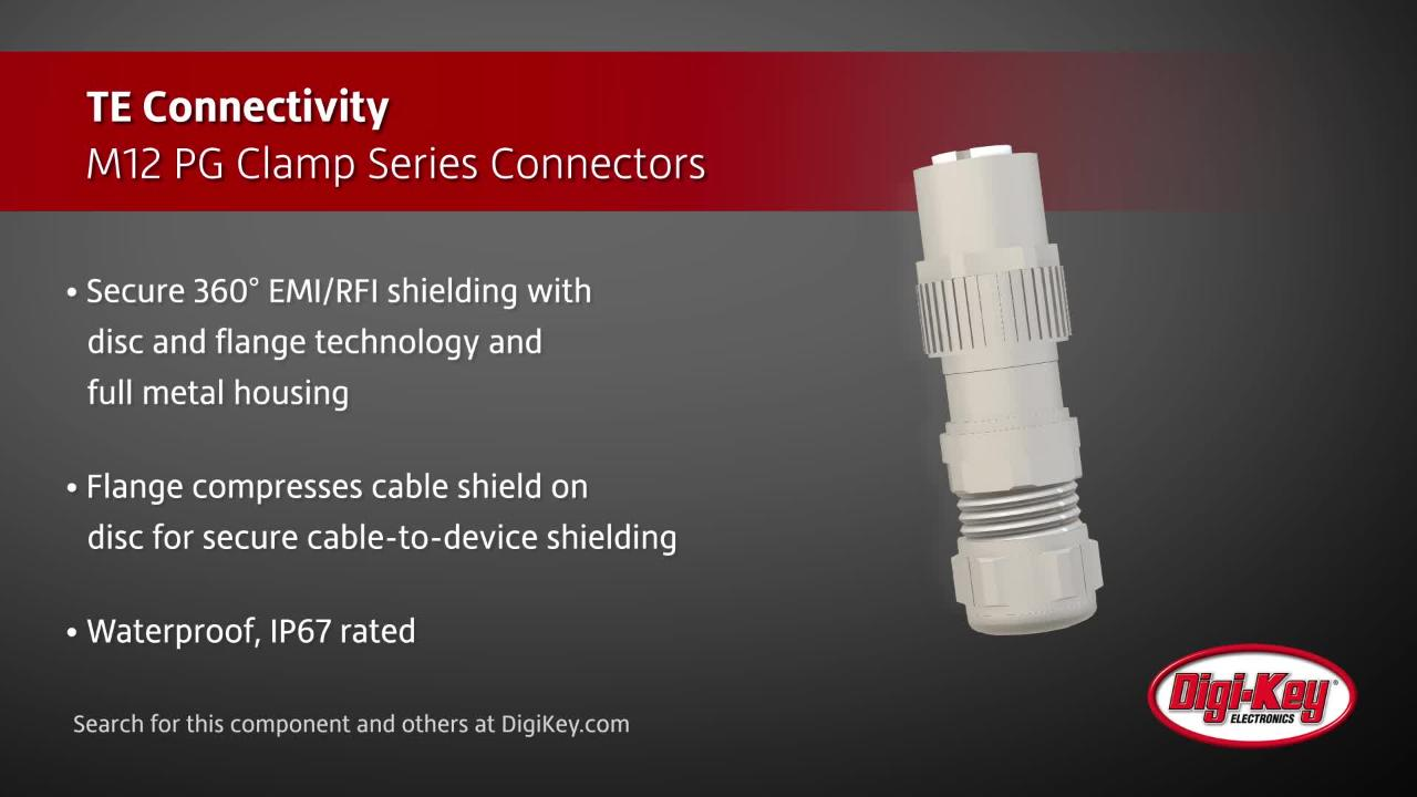 TE Connectivity M12 PG Clamp Series | Digi-Key Daily