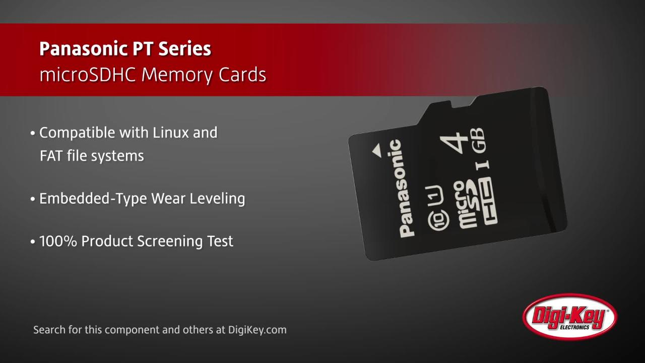 Panasonic PT Series microSDHC Memory Cards | Digi-Key Daily