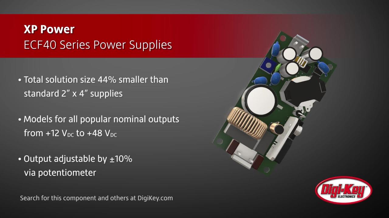 XP Power ECF40 Series Power Supplies | Digi-Key Daily
