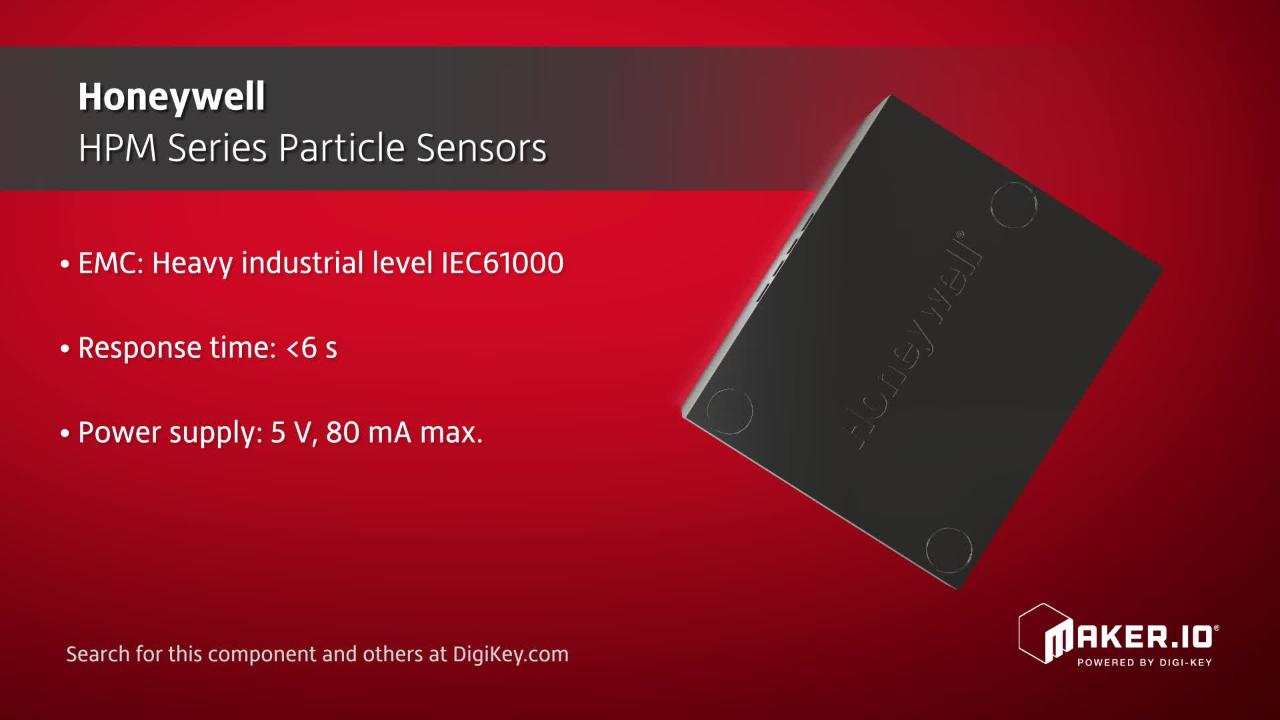 Honeywell HPM Series Particle Sensors | Maker Minute