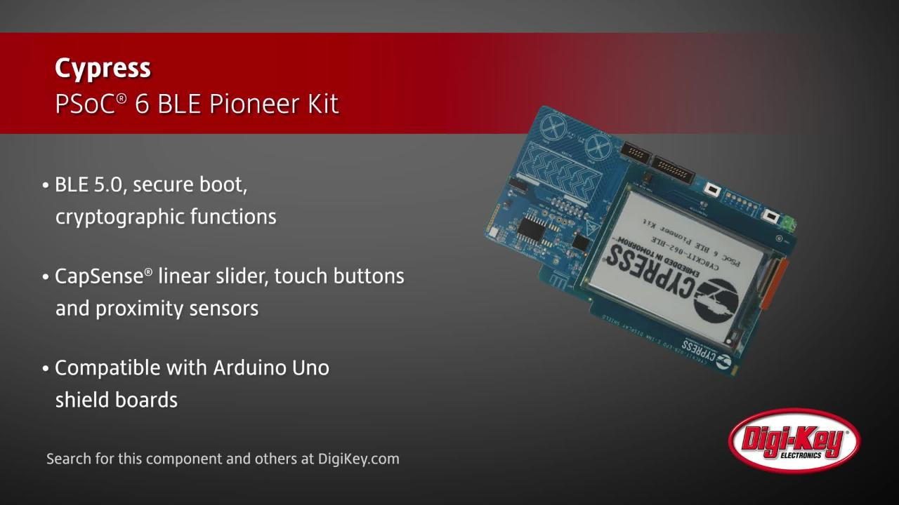 Cypress PSoC® 6 BLE Pioneer Kit | Digi-Key Daily