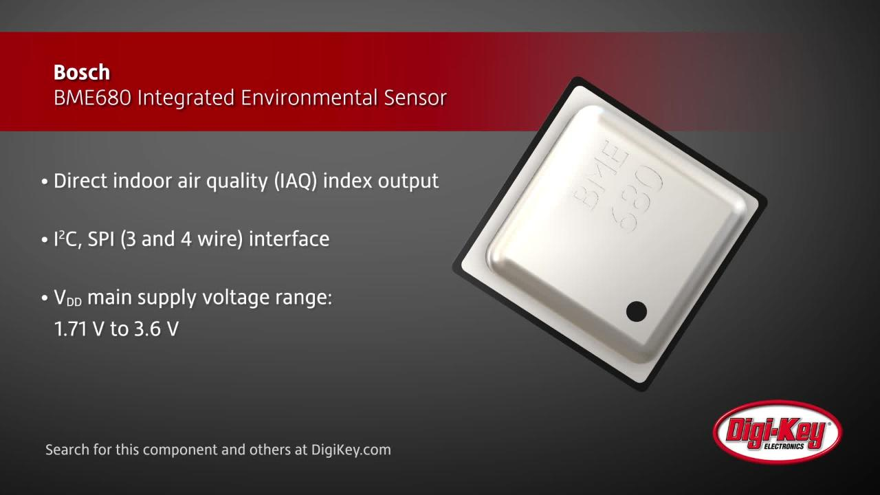 Bosch BME680 Integrated Environmental Sensor | Digi-Key Daily