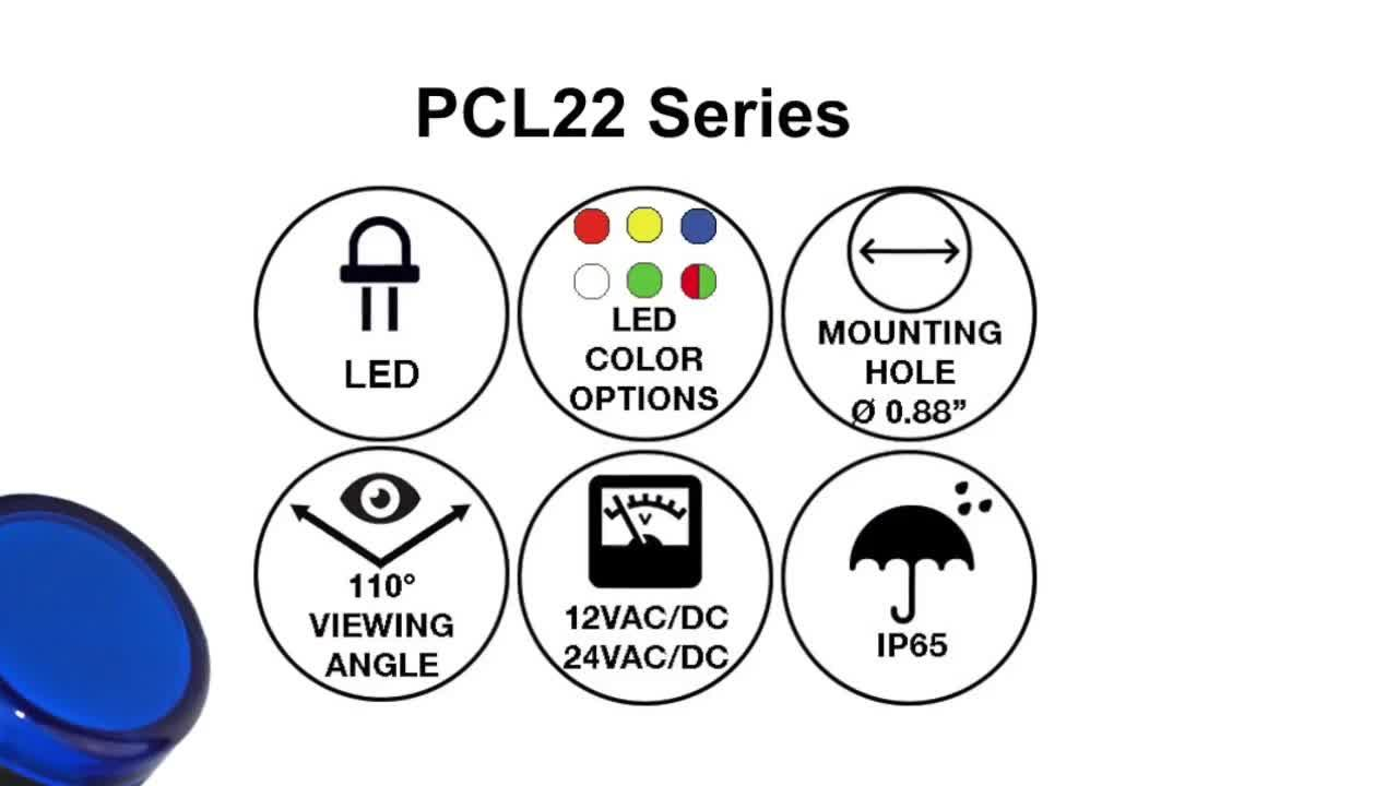 New Product Introduction from VCC: PCL22 Series - LED Pilot Light