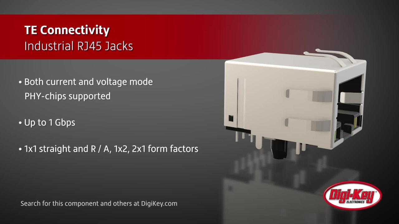 TE Connectivity Industrial RJ45 Jacks | Digi-Key Daily