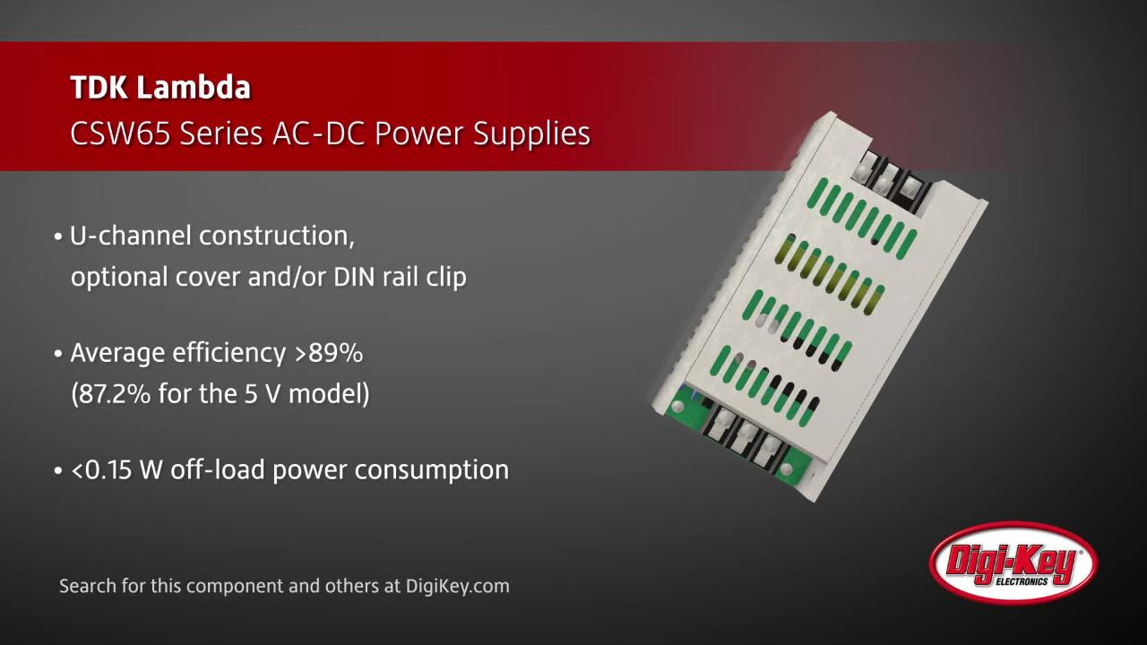 TDK Lambda CSW65 Series Power Supplies | Digi-Key Daily