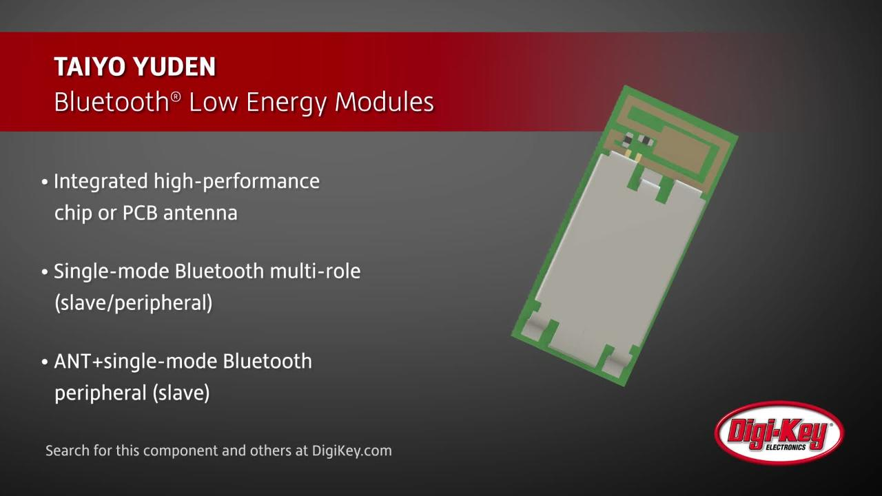 TAIYO YUDEN Bluetooth Low Energy Modules | Digi-Key Daily