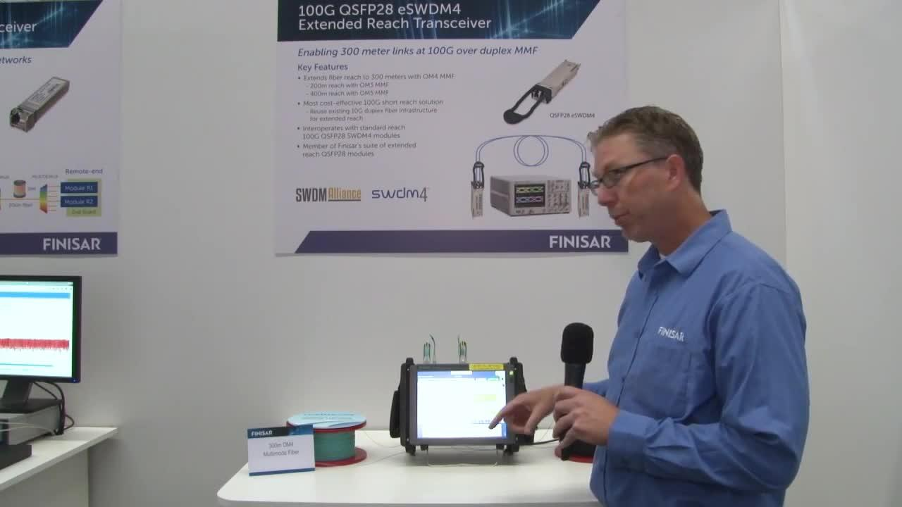 Finisar Demonstrates 100G QSFP28 eSWDM4 Transceiver at ECOC 2017