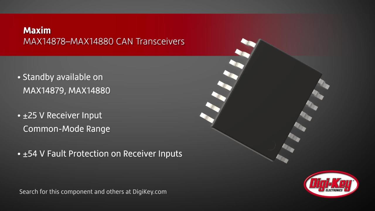 Maxim MAX14878–MAX14880 CAN Transceivers | Digi-Key Daily