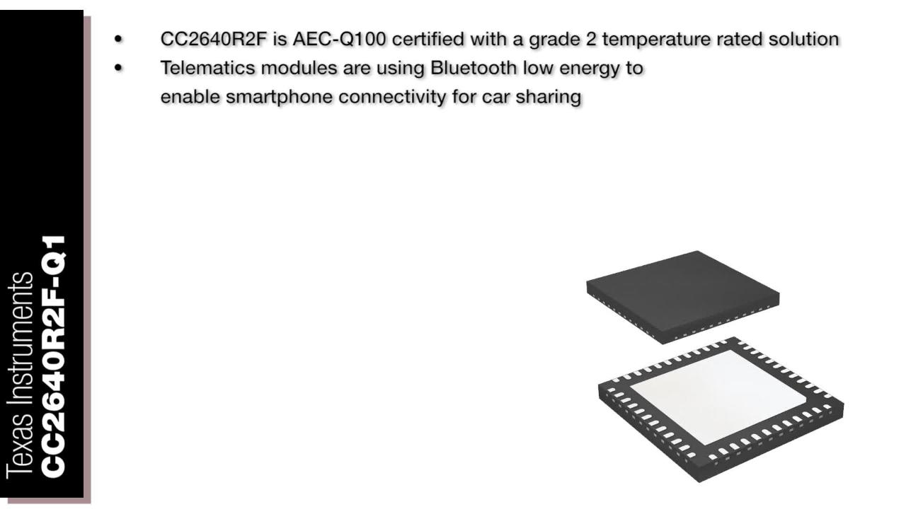 Texas Instruments CC2640R2F-Q1 - Embedded World 2018