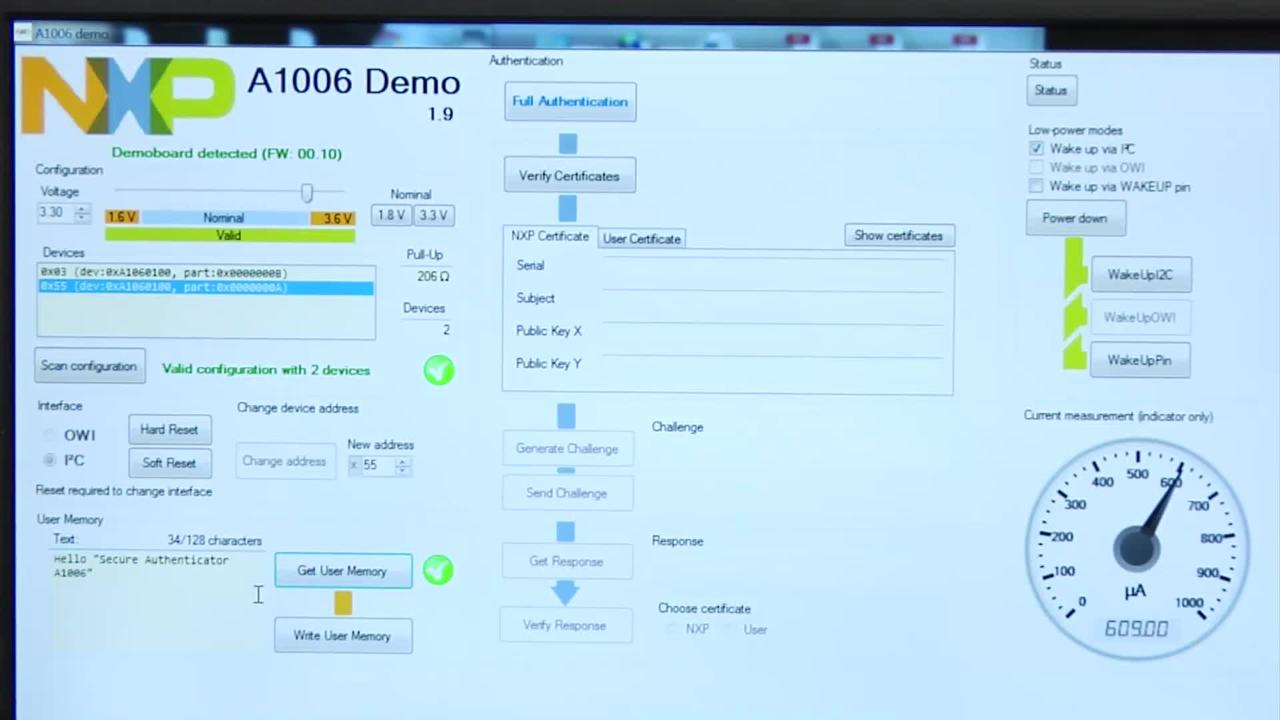 NXP A1006 Secure Authenticator Demo