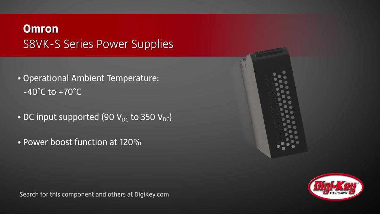 Omron S8VK-S Series Power Supplies | Digi-Key Daily