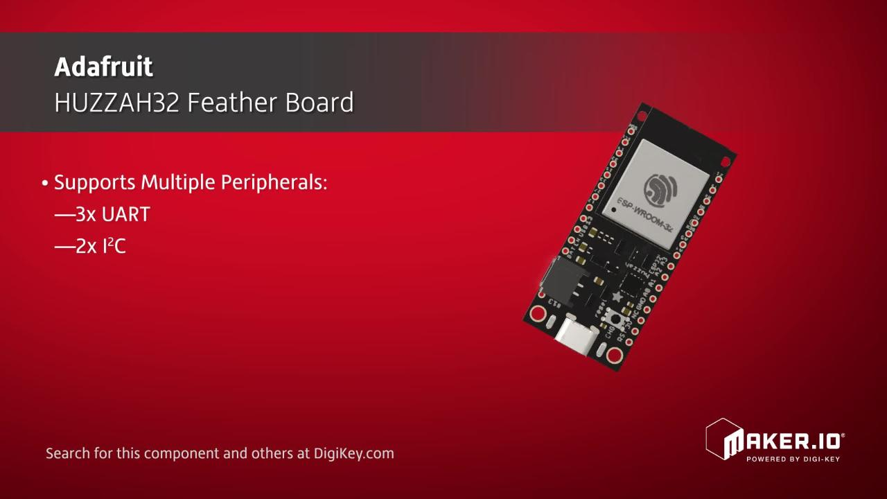 Adafruit HUZZAH32 Feather Board | Maker Minute