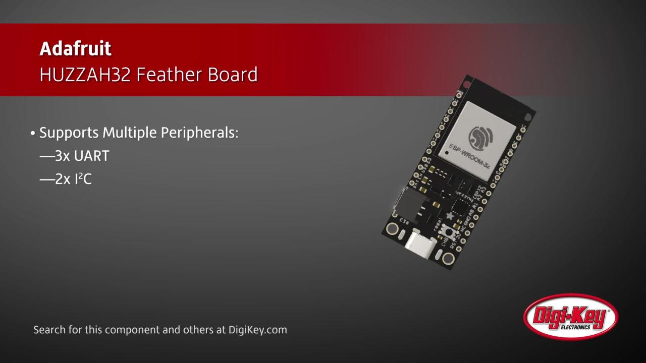 Adafruit HUZZAH32 Feather Board | Digi-Key Daily