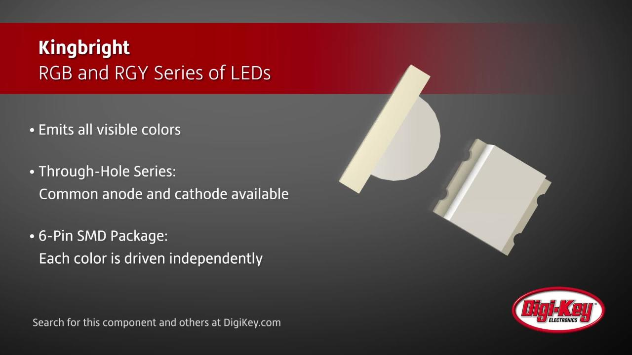 Kingbright RGB and RGY Series of LEDs | Digi-Key Daily