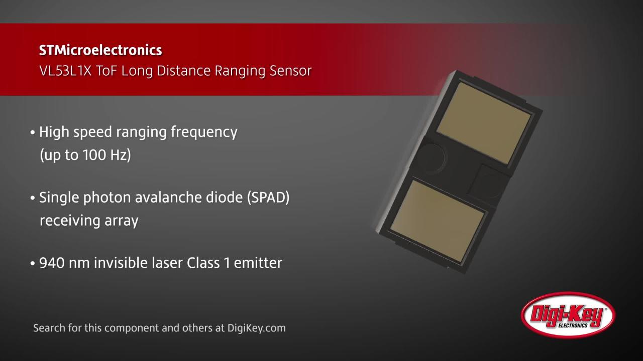 STMicroelectronics ToF Long Distance Ranging Sensor | Digi-Key Daily