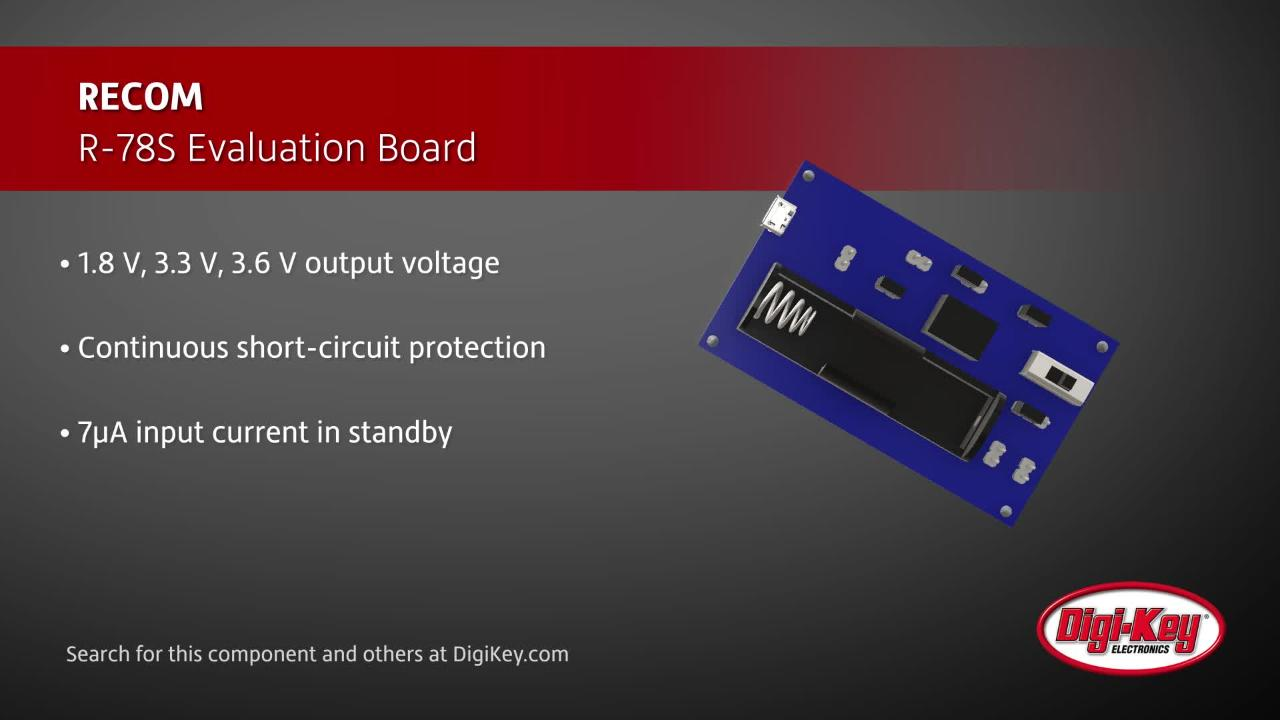RECOM R78-S Evaluation Board | Digi-Key Daily