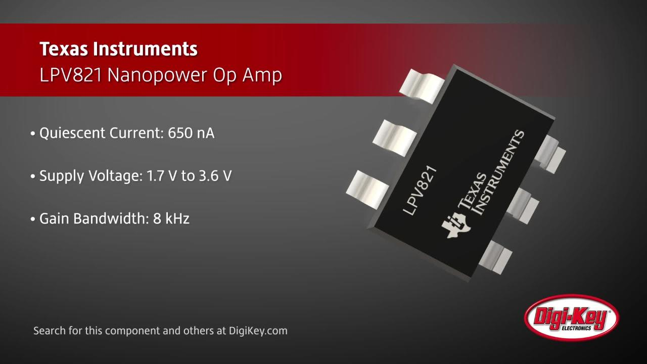Texas Instruments LPV821 Op Amp | Digi-Key Daily