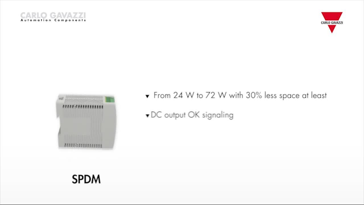 Carlo Gavazzi's SPDM Series Power Supplies with Plastic Enclosure