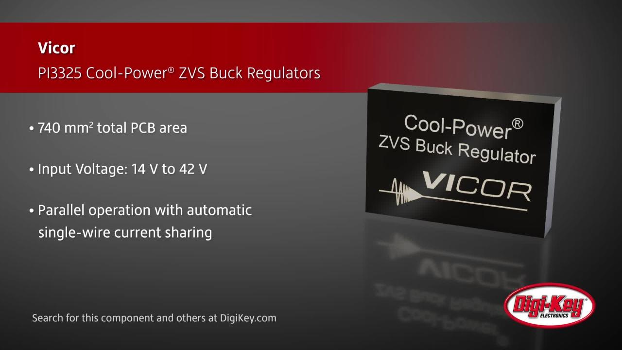 Vicor PI3325 Buck Regulators | Digi-Key Daily