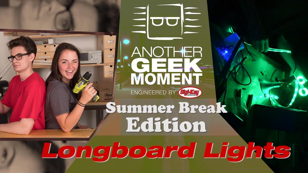 Trinket NeoPixel LED Longboard - AGM Summer Break