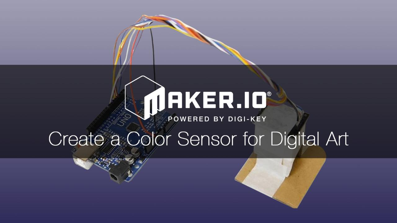 Arduino TCS3200 Color Sensor to Hash Tag Project – Maker IO
