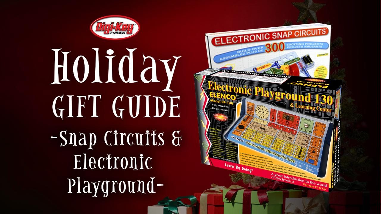 2017 Digi-Key Holiday Gift Guide - Snap Circuits and Electronic Playground