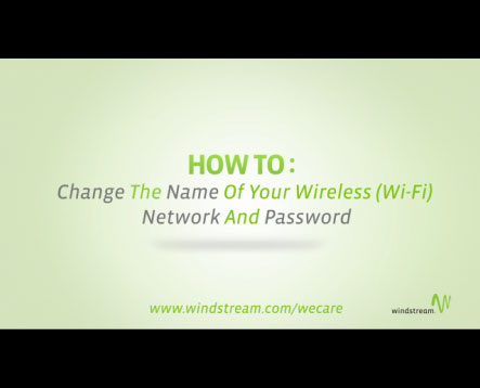 How do I change my wireless network password? | Support | Windstream