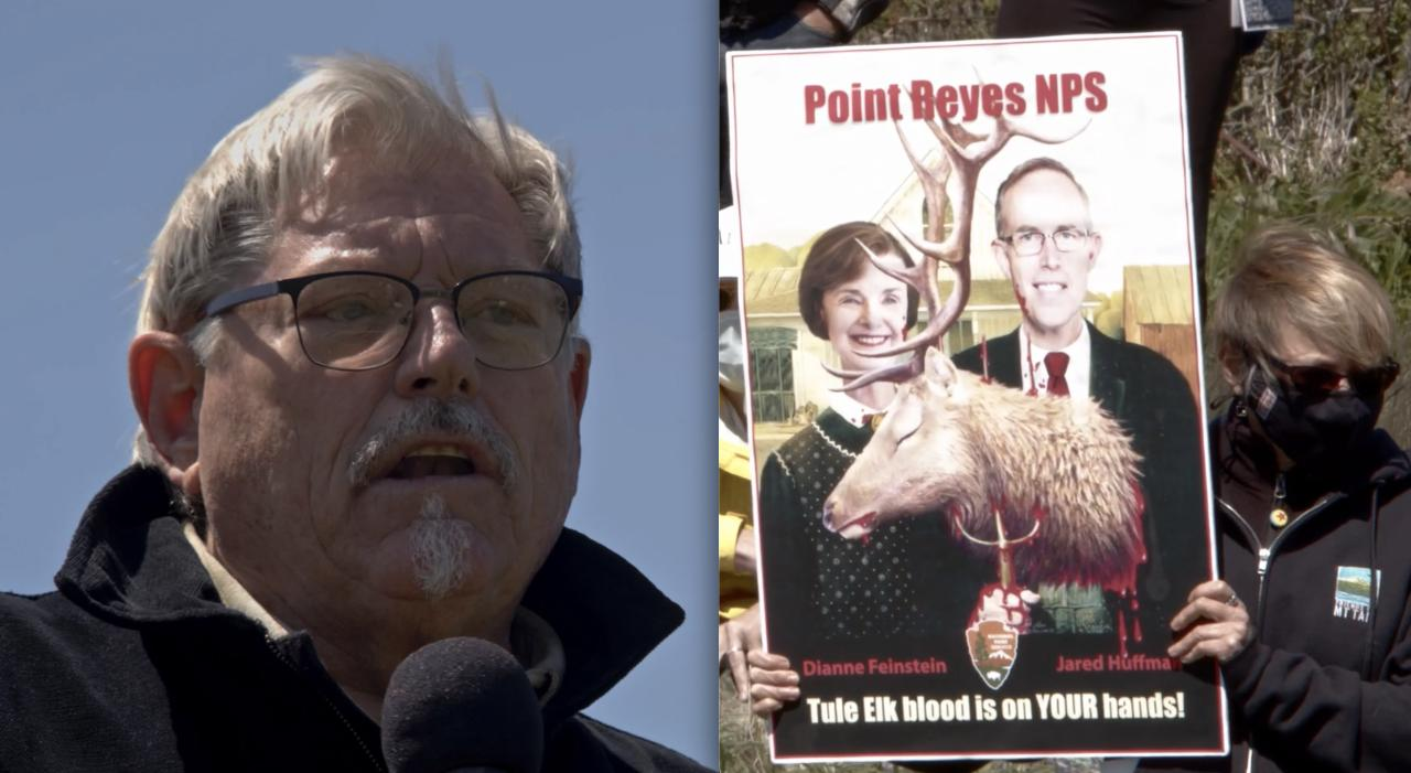 Fmr. Petaluma Councilman Calls out Rep. Jared Huffman at Tule Elk Fence Protest: 'He is wrong on this… He needs to change his position'
