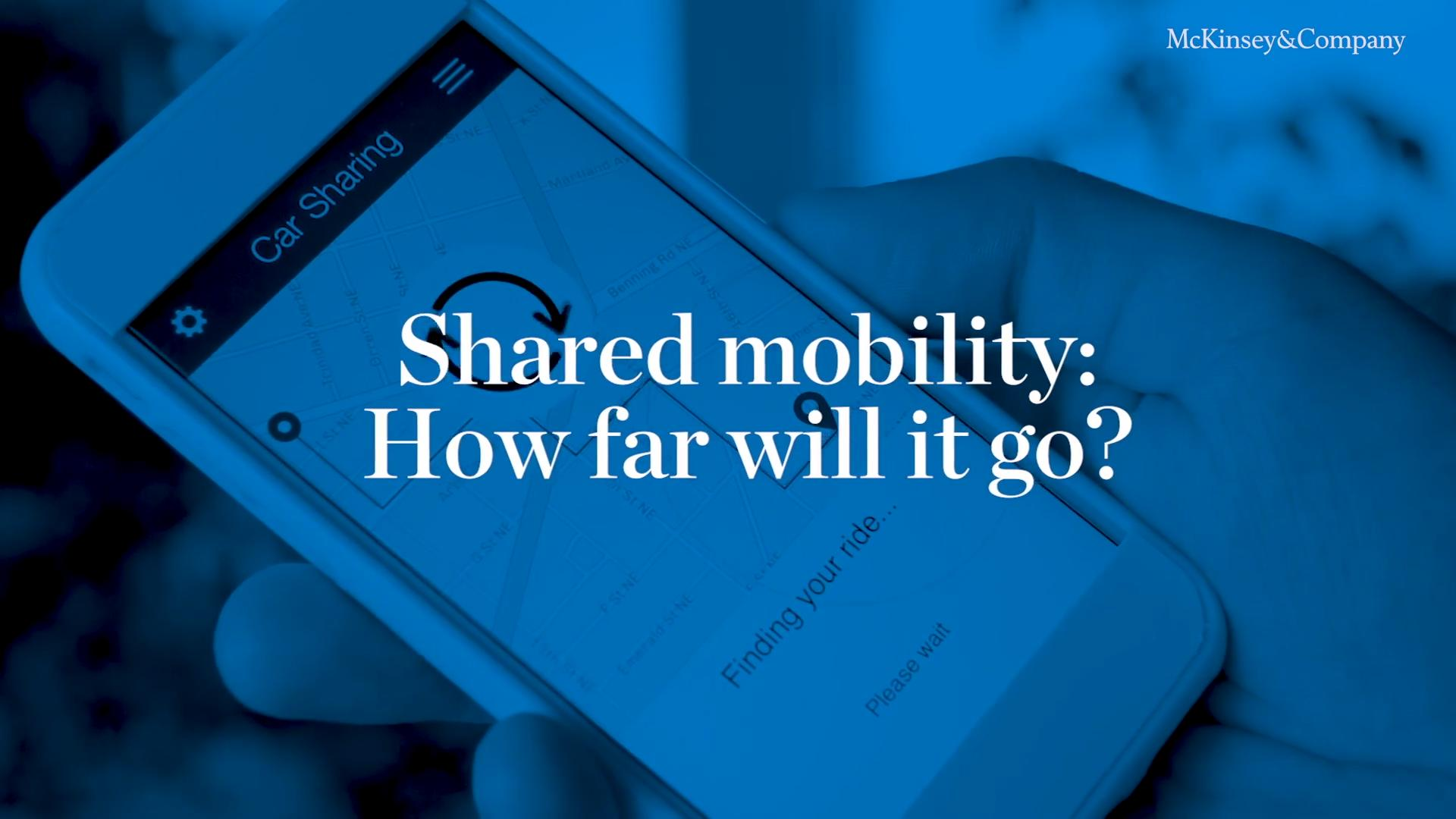 Shared Mobility | MCFM | McKinsey & Company
