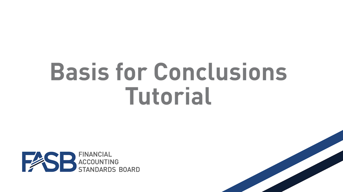 FASB Codification Basis for Conclusions