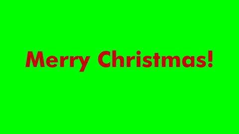 Animated Text Merry Christmas