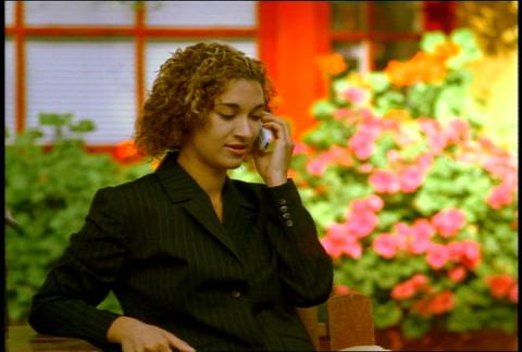 Business Woman On Cell Phone Outdoor 2