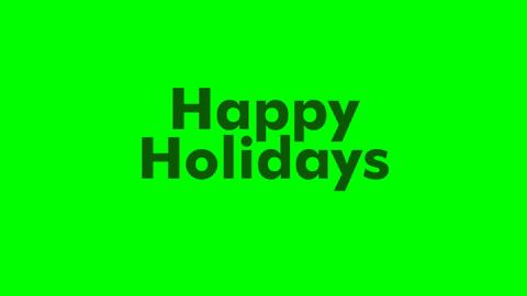 Animated Text Happy Holidays