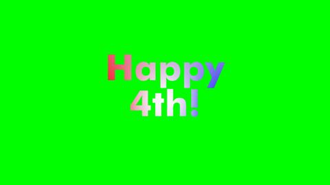 Animated Text Happy 4th
