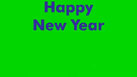 Animated Text Happy New Year
