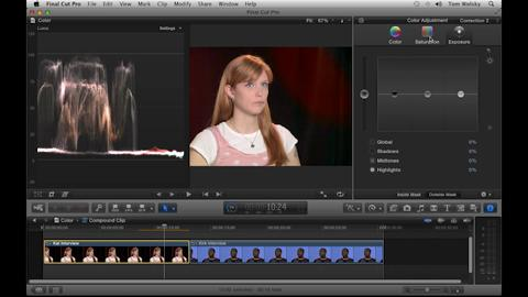 Manual Secondary Color Correction