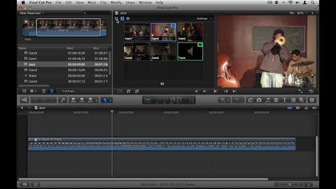 Editing the Multi-Cam Clip