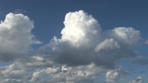 Puffy White Clouds Timelapse