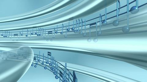 Musical Notes Blue In Circle