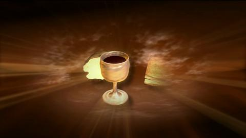 Goblet And Bread Spinning And Glow