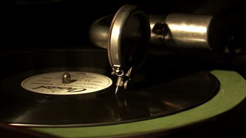 Macro Old Phonograph End Of Record
