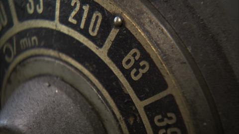 Macro Spinning Old Dial