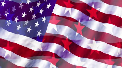 American Flag With Faded Stars Background