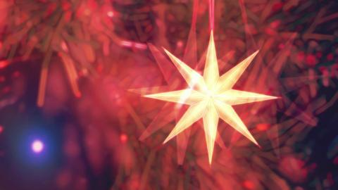 Eight Point Star Tree Background