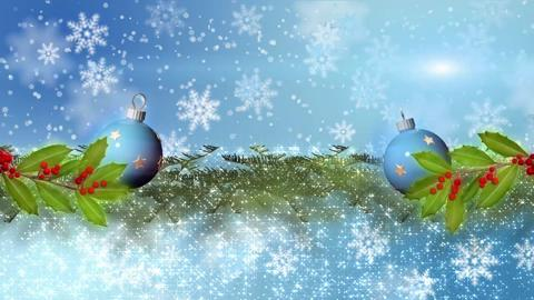Falling Snowflakes With Branch and Bulbs